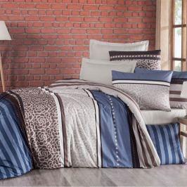 Kvalitex Bavlnené obliečky Delux Stripe modrá, 200 x 200 cm, 2 ks 70 x 90 cm
