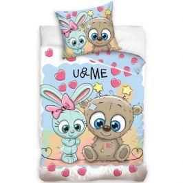 TipTrade Bavlnené obliečky U & Me Cute Friends, 140 x 200 cm, 70 x 80 cm