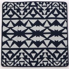 Altom Obliečka na vankúšik čierno-sivá, 40 x 40 cm