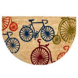 Trade Concept Kokosová rohožka polkruh Bicykle, 40 x 60 cm