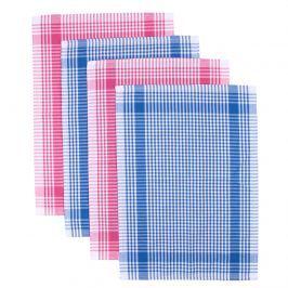 Night in Colours Kuchynská utierka Classic modrá a ružová, 50 x 70 cm, sada 4 ks