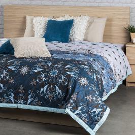 Night in Colours Prehoz na posteľ Alberica modrá, 240 x 200 cm
