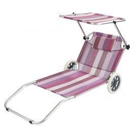 Lehátko plážový vozík ružová