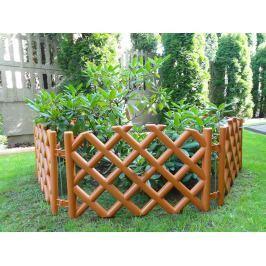 Záhradný plôtik mriežka teracota
