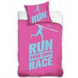 TipTrade Perkálové obliečky Run ružová, 140 x 200 cm, 70 x 90 cm