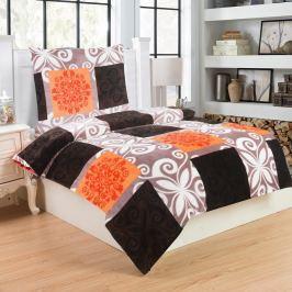 Jahu Obliečky mikroplyš Motýľ oranžová, 140 x 200 cm, 70 x 90 cm
