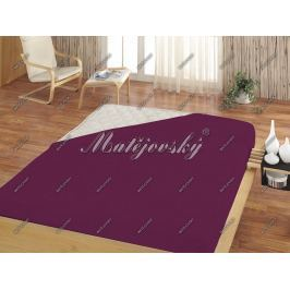 Matějovský prestieradlo Jersey fialová, 160 x 200 cm