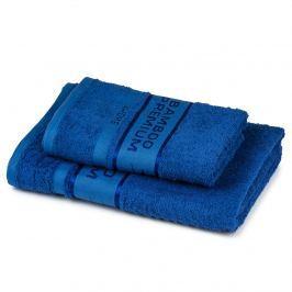 4Home Sada Bamboo Premium osuška a uterák modrá, 70 x 140 cm, 50 x 100 cm