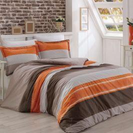Kvalitex Bavlnené obliečky Delux Stripes lososová, 200 x 200 cm, 2 ks 70 x 90 cm