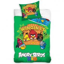 Tip Trade Detské bavlnené obliečky Angry Birds Music, 140 x 200 cm, 70 x 90 cm