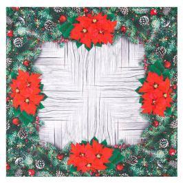 Forbyt Vianočný obrus Vianočné ruže, 85 x 85 cm