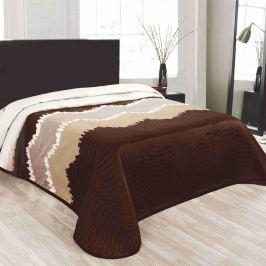 Forbyt Prehoz na posteľ Celiné hnedá, 240 x 260 cm