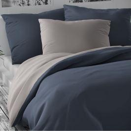 Kvalitex Saténové obliečky Luxury Collection svetlosivá/tmavosivá, 220 x 200 cm, 2 ks 70 x 90 cm