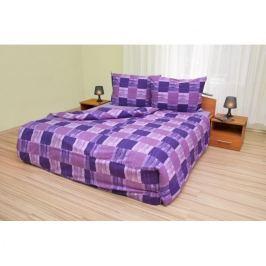 Kvalitex Bavlnené obliečky Štvorce fialové