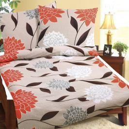 Bellatex Obliečky krep Oranžová dália, 140 x 200 cm, 70 x 90 cm