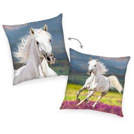 Herding Vankúšik Kôň biela, 40 x 40 cm