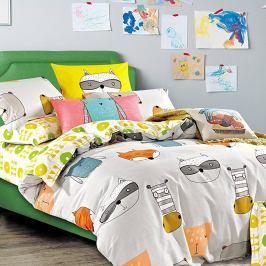 DecoKing Bavlnené obliečky Wildpack, 135 x 200 cm, 80 x 80 cm