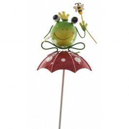 Dekoračná Žabka s včielkou na dáždniku, 70 cm