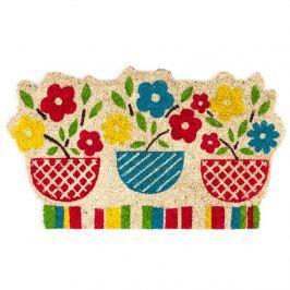 Trade Concept Kokosová rohožka Kvetiny farebná, 45 x 75 cm