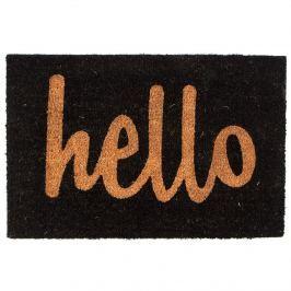 Trade Concept Kokosová rohožka Hello čierna, 40 x 60 cm