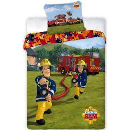 Jerry Fabrics Detské bavlnené obliečky Požiarnik Sam 008, 140 x 200 cm, 70 x 90 cm